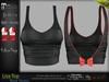 Lisa Female Bow Top BLACK - MESH - Maitreya Lara, Slink Physique Hourglass, Belleza Freya