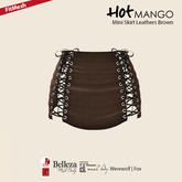 HOT MANGO Mini Skirt Leathers Brown