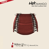 HOT MANGO Mini Skirt Leathers Red