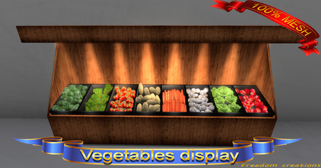 Vegetables display(ADD)(BOX)-Freedom creations