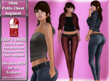 Slink Petite Chest Augment Ellie's Jacket, top and jeans