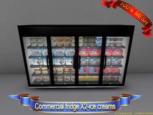 Commercial fridgeX2(ice creams)(ADD)(BOX)-Freedom creations
