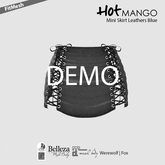 HOT MANGO Mini Skirt Leathers Blue DEMO