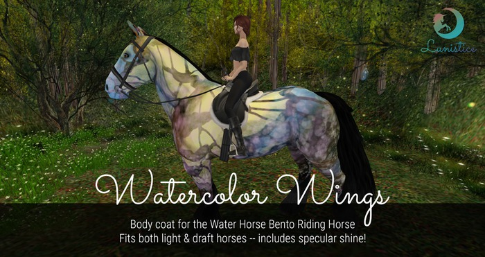 Lunistice: Watercolor Wings - Water Horse Body Coat