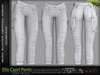 Ella Female Capri Pants White Single Color - MESH - Maitreya Lara, Slink Physique Hourglass, Belleza Freya