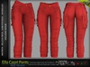 Ella Female Capri Pants Red Single Color - MESH - Maitreya Lara, Slink Physique Hourglass, Belleza Freya