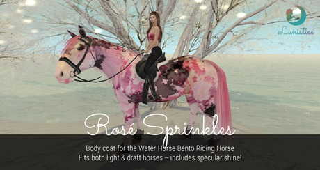 Lunistice: Rose Sprinkles - Water Horse Body Coat
