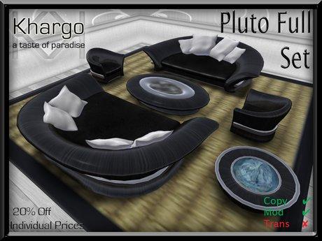PLUTO INDOOR/OUTDOOR SOFA/LOUNGER SET: MENU DRIVEN TEXTURE/ANIM CHANGE / CUDDLES