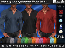 B.o.E - Henry Polo Longsleeve Shirt - Gianni, Jake, TMP, Signature, Adam