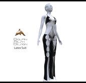 [Dolphin Design Mesh]Full permissions Latex Suit