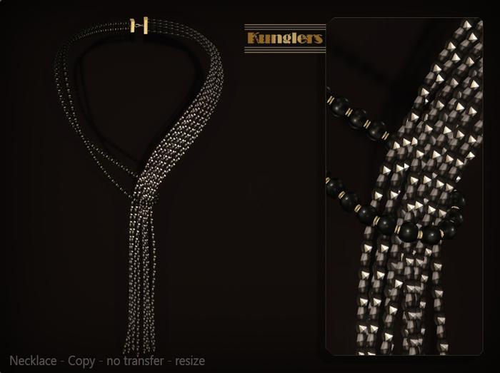 KUNGLERS - Sibilla necklace - Ebony