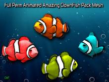 Full Perm Amazing Animated ClownFish Pack  HQ Mesh