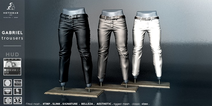 not so bad . mesh . GABRIEL suit pants . full pack 3.3