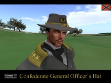 """Gaagii - Confederate """"General"""" Officer`s Hat * * *"""