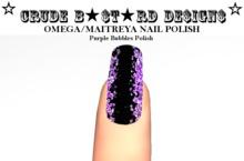 **CB** Maitreya Purple Wet Nails HUD