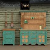 *PAN* Weathered Kitchen Set (Turquoise)