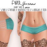 Paper.Sparrow Mandy Shorts - Sea * Venus // Physique // Maitreya // Isis // Hourglass
