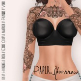 Paper.Sparrow Amber Top - Black * Isis // Hourglass // Freya // Ebody Curvy // Maitreya // Physique // Venus