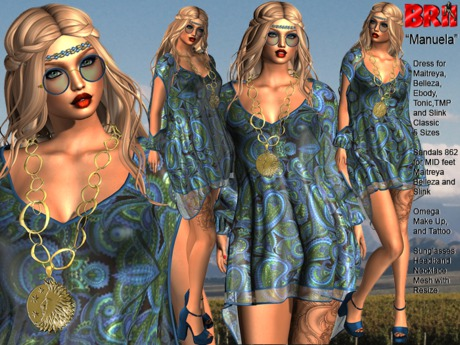 **MANUELA BOHO HIPPIE STYLE COMPLET OUTFIT **