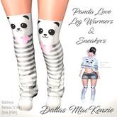 [Dallas MacKenzie] Panda Love LegWarmers & Sneakers
