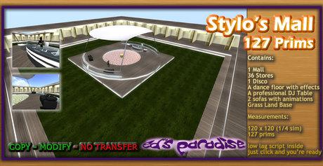 Stylo's Mall 127 prims Ed constructor