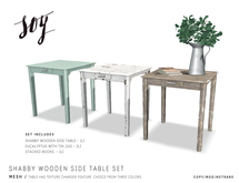 Soy. Shabby Wooden Side Table Set [addme]