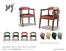 Soy. Wooden Arm Chair with Blanket [addme]