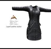 [Dolphin Design Mesh]Full permissionsLapel Leather Jacket