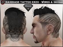 [ Hud ] Hairbase Tattoo Head Aesthetic  - Wings & Skull