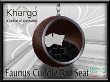 FAUNUS CUDDLE BALL SEAT: MENU DRIVEN TEXTURE AND CUDDLE ANIMATION CHANGE