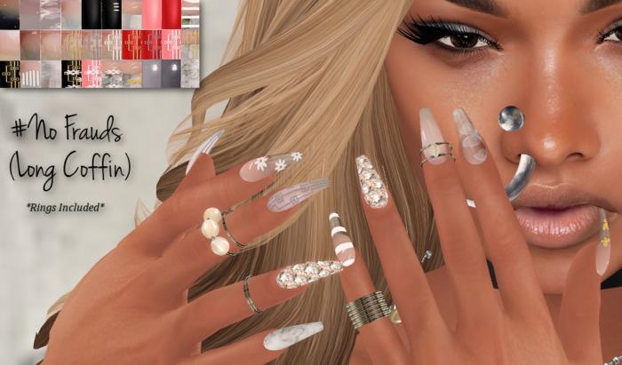 ~GD~#No Frauds(Long Coffin) - Belleza BENTO Hands