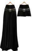 Blueberry - Catrine - Maxi & Short Boho Skirts - Black