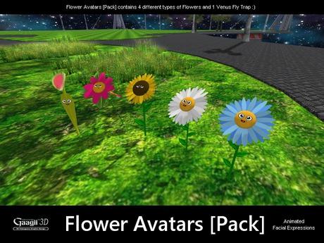 Gaagii 3D - Flower Avatars [Pack]