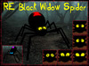 RE Black Widow Spider Set - 6 Faces/4 Prims Ea. Change Eye/Hourglass Colors - Halloween Decorations - On Sale!
