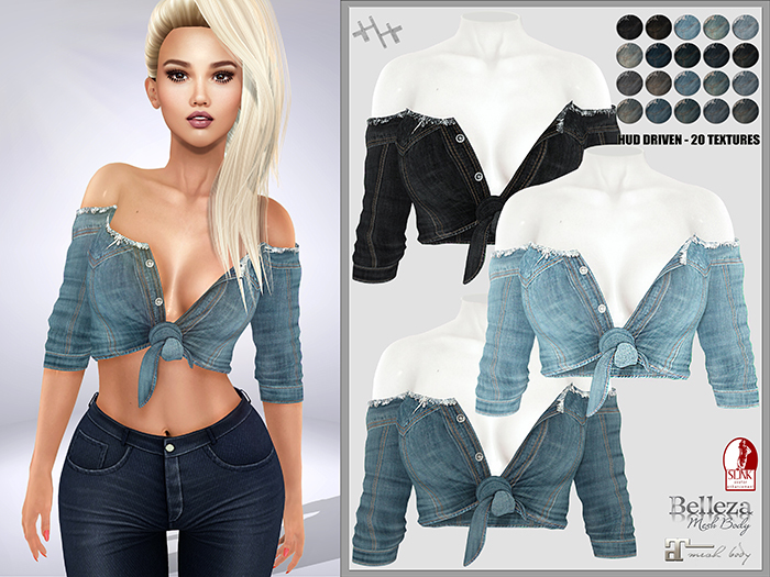 [hh] Fergie Knotted Shirt DENIM PACK