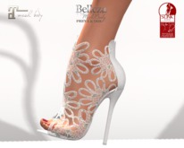 ~PP~ White Floral Lace Heels