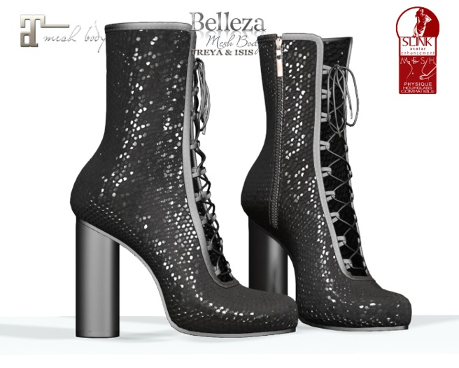 ~PP~ Black Burlesque Boots