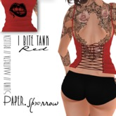 Paper.Sparrow I Bite Tank Top Red