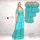 [Marquesse] Beach Dress 3 in 1 Aqua