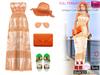 Full Perm Unique Golden Summer Dress Outfit Set - Slink, Maitreya, Belleza, Ocacin, Tonic, TMP, Ebody
