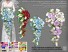 LDG-FULL PERM 727 Rose Bouquet Cascade No. 2 with Calla Lily /13 parts /140 textures /Builderkit