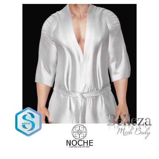 NOCHE. Japanese Style Robe White