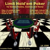 Limit Holdem Round Poker with Bots & Chairs
