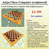 Chess Computer with Sculpted Pieces