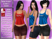 Slink Petite Chest Augment Goldie's Tank and Mini-skirt DEMO
