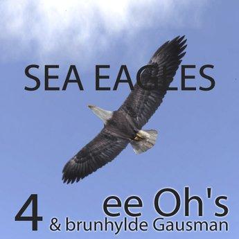 4 BALD SEA EAGLES sculpt   free roaming