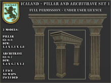 Icaland - Pillar and Architrave Set 1