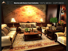 [Dolphin Design]Mona Lisa smile Classical  couch combination