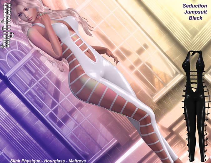 [Sexy Princess] Black Seduction Jumpsuit - Maitreya, Slink Physique, Hourglass