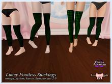 Lamp*Light - Limey Footless Stockings
